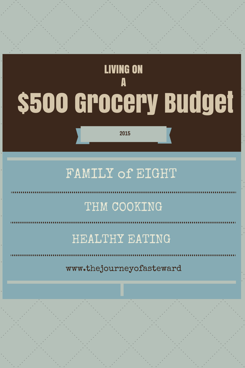 Living on a $500 food budget