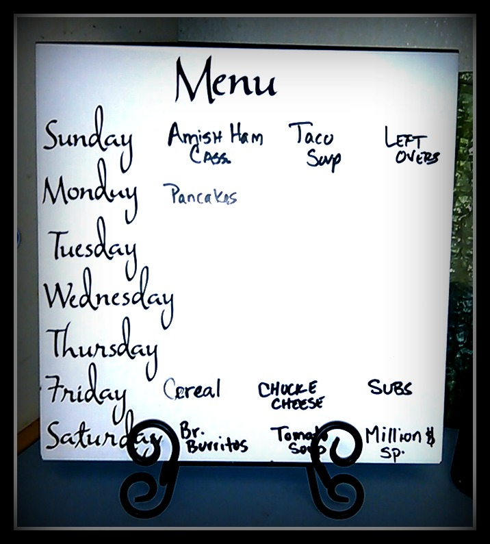 Baby Steps to Menu Planning