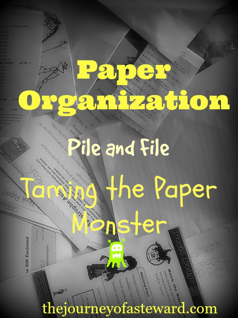 Paper Organization ~Taming the Paper Monster-Pile and File
