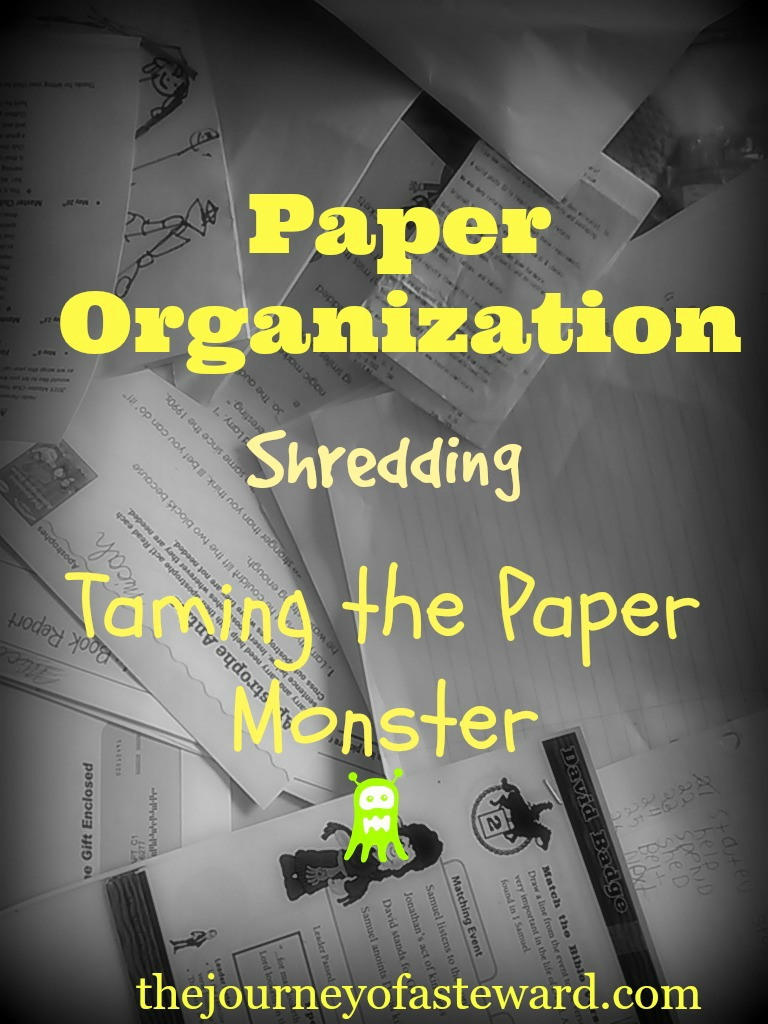 Paper Organization ~ Taming the Paper Monster-Shredding
