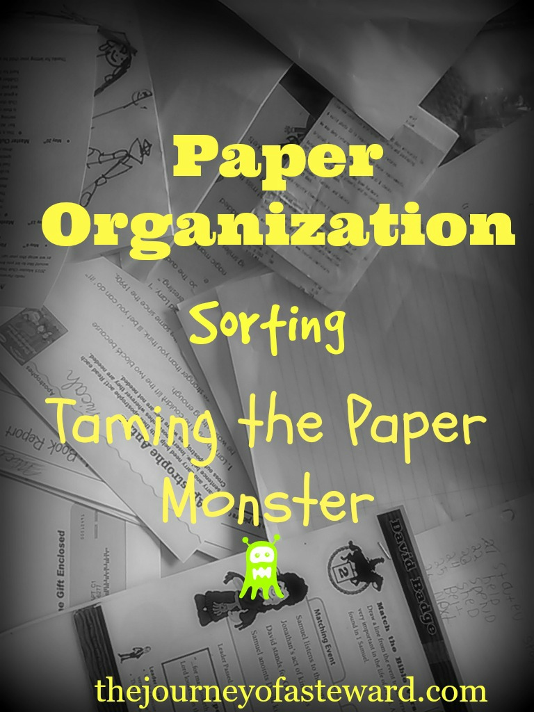 Paper Organization ~ Taming the Paper Monster-Sorting