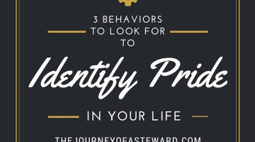 3 Behaviors to Look for to Identify Pride in your Life