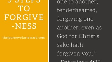 5 Steps to Forgiveness