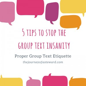5 tips to stop the group text insanity