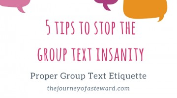 5 Tips to Stop the Group Text Insanity ~ Proper Group Text Etiquette