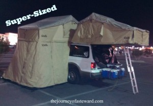 Super sized roof top tents
