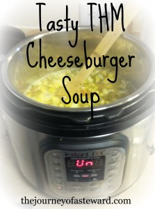 THM Cheeseburger Soup