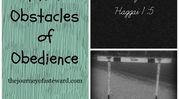 Consider Your Ways ~ Recognizing the 7 Obstacles of Obedience